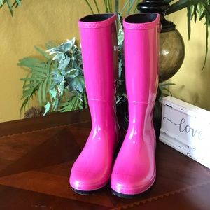 UGG Pink Waterproof Rubber Boots